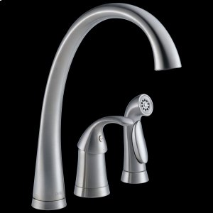 Arctic Stainless Single Handle Kitchen Faucet with Spray Product Image