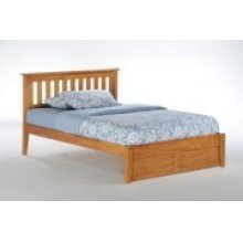 Rosemary Bed in Medium Oak Finish