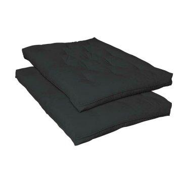 Black Deluxe Innerspring Futon Pad