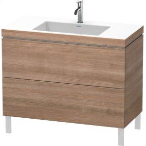 Furniture Washbasin C-bonded With Vanity Floorstanding, Ticino Cherry Tree (decor)