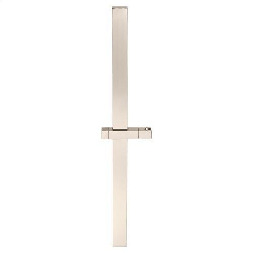 30 Inch Square Slide Bar - Polished Nickel