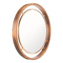 Round Gold Mirror