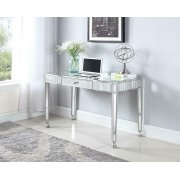 Contemporary Silver Mirrored Writing Desk Product Image