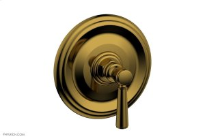 """HEX TRADITIONAL 1/2"""" Mini Thermostatic Shower Trim 4-098 - French Brass Product Image"""