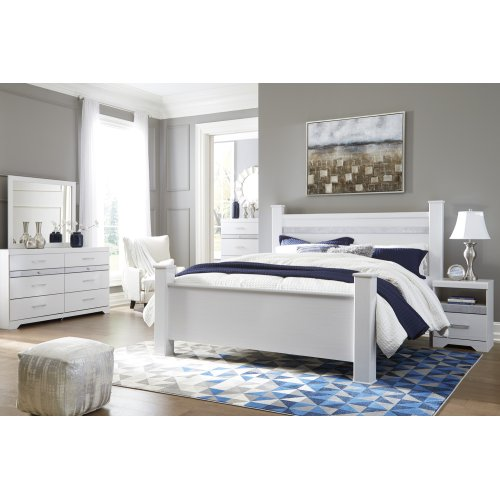Jallory - White 3 Piece Bed Set (King)
