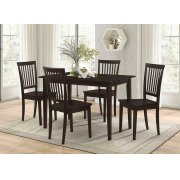 Oakdale Casual Cappuccino Five-piece Dinette Set Product Image