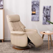Oscar Recliner in Cobble Breathable Air Leather