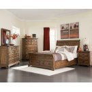 Elk Grove Rustic Vintage Bourbon Queen Bed Product Image