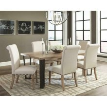 Taylor Rustic Ivory and Oak Five-piece Dining Set