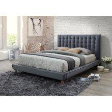 Newport Gray Tufted Upholstered Queen Bed