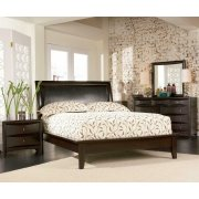 Phoenix Deep Cappuccino Queen Five-piece Bedroom Set Product Image