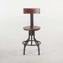 """Industrial Modern Adjusting Chair 18"""" Walnut"""