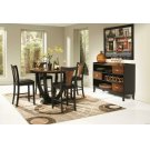 Boyer Transitional Amber and Black Five-piece Counter-height Dining Set Product Image