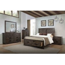 Lawndale Rustic Weathered Grey California King Bed