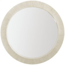 East Hampton Round Mirror in Cerused Linen (395)
