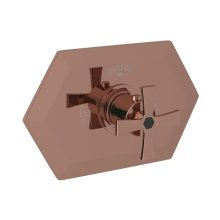 Rose Gold Bellia Thermostatic Trim Without Volume Control