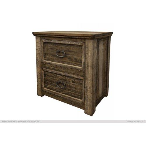 2 Drawer, Night Stand, Pine Wood