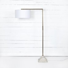 Hartford Floor Lamp-patina Brass