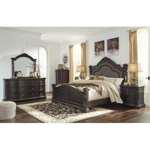 Wellsbrook - Dark Brown 3 Piece Bed Set (King)