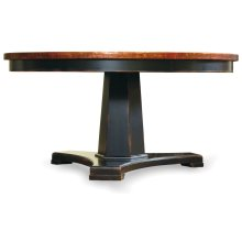 Dining Room Sanctuary 60 in Round Pedestal Dining Table - Ebony & Copper