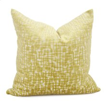"20"" x 20"" Pillow Crevasse Citron - Down Fill"