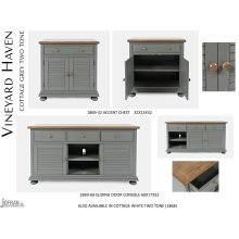 Vineyard Haven Accent Chest - Cottage Grey Two Tone