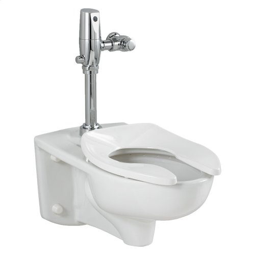 Afwall 1.28 gpf Toilet System with Flush Valve - White