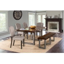 Emerson 6pc Rectangle Dining Set With 1 Bench and 4 Chairs - Gray Sheesham