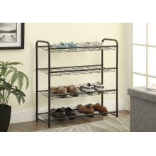 Transitional Black Shoe Rack