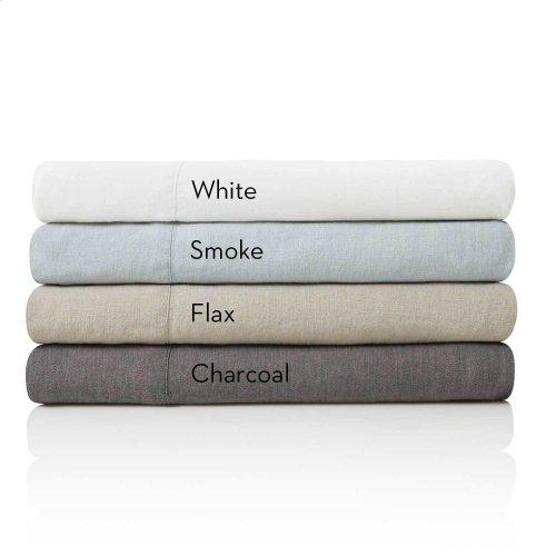 French Linen Queen Pillowcase Smoke
