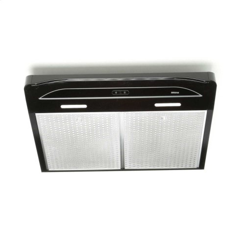 Alta 36-inch 300 CFM Black Range Hood with LED light