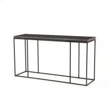 Harlow Console Table-bluestone/gunmetal