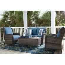 Abbots Court - Blue/Gray 2 Piece Patio Set