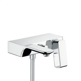 Polished Gold Optic Single lever bath mixer for exposed installation