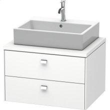 Brioso Vanity Unit For Console, White Matt