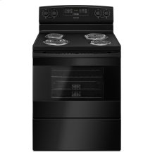 30-inch Electric Range with Bake Assist Temps Black