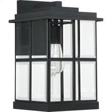 Mulligan Outdoor Lantern in Matte Black