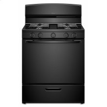 30-inch Gas Range with EasyAccess Broiler Door - Black