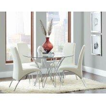 Cabianca Contemporary Chrome Dining Table