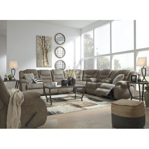 Groovy Mccade Cobblestone 3 Piece Sectional Unemploymentrelief Wooden Chair Designs For Living Room Unemploymentrelieforg