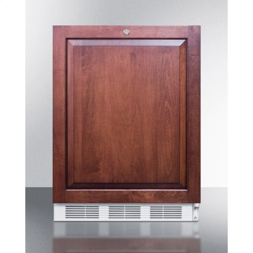 ADA Compliant Built-in Undercounter All-refrigerator for General Purpose Use, Auto Defrost W/lock and Integrated Door Frame for Custom Overlay Panels