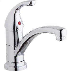 Elkay Everyday Single Hole Deck Mount Kitchen Faucet with Lever Handle Chrome Product Image