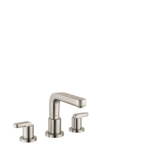 Brushed Nickel 3-Hole Roman Tub Set Trim with Lever Handles