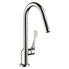 Chrome Single lever kitchen mixer 250 with pull-out spray 1.75 GPM