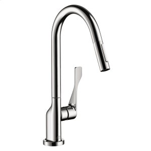 Chrome Single lever kitchen mixer 250 with pull-out spray 1.75 GPM Product Image