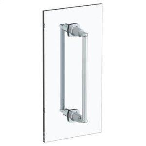 "H-line 18"" Double Shower Door Pull/ Glass Mount Towel Bar Product Image"