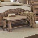 Ilana Traditional Upholstered Bench With Bottom Shelf Product Image