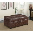 Casual Dark Brown Sleeper Ottoman Product Image