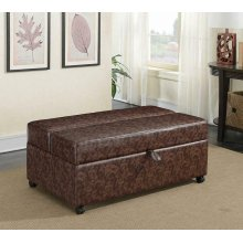 Casual Dark Brown Sleeper Ottoman