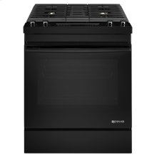 "Black Floating Glass30"" Dual-Fuel Downdraft Range Black"